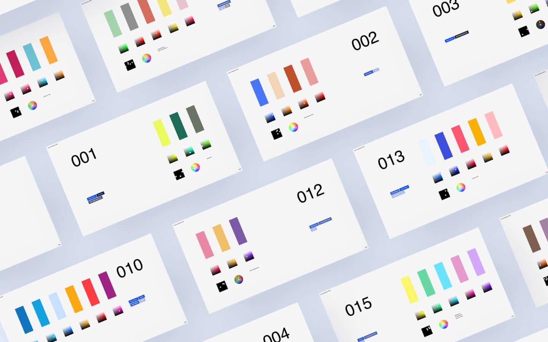 Combining Colors Palette UI Design