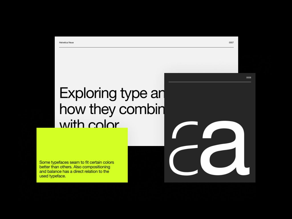 Typefaces and Color Combinations